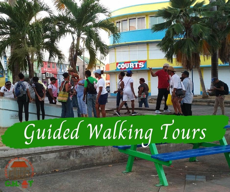Gueston on walking tour of Bridgetown